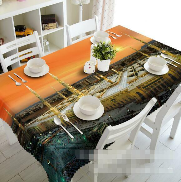 3D Building 68Tablecloth Table Cover Cloth Birthday Party Event AJ WALLPAPER AU