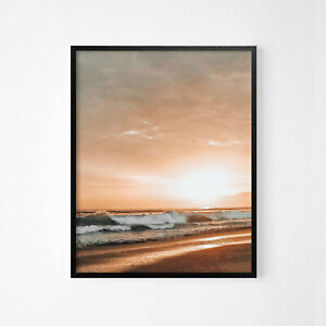 Sunset Beach Relax View Wall Art Poster Print.Great Home Decor A3 A2 A1 A0