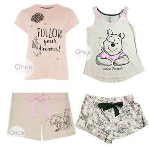 PRIMARK Ladies DISNEY WINNIE THE POOH Pyjama Pieces Vest ... 6f1bf5a4ba