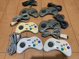 Sega-Saturn-Controller-lot-of-6-JAPAN-SS-SS111