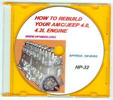 "How to Rebuild your AMC Jeep CJ Wrangler 4.0 L 4.2 L Engine Video Manuel ""DVD"""