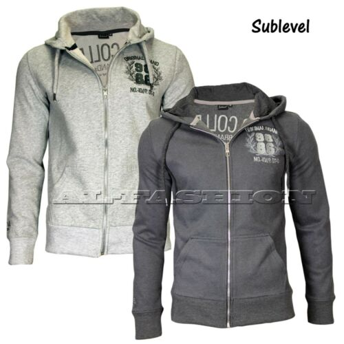 XL Sublevel Uomo Hoody Sweatjacke Pullover Cappuccio Tg S XXL M L