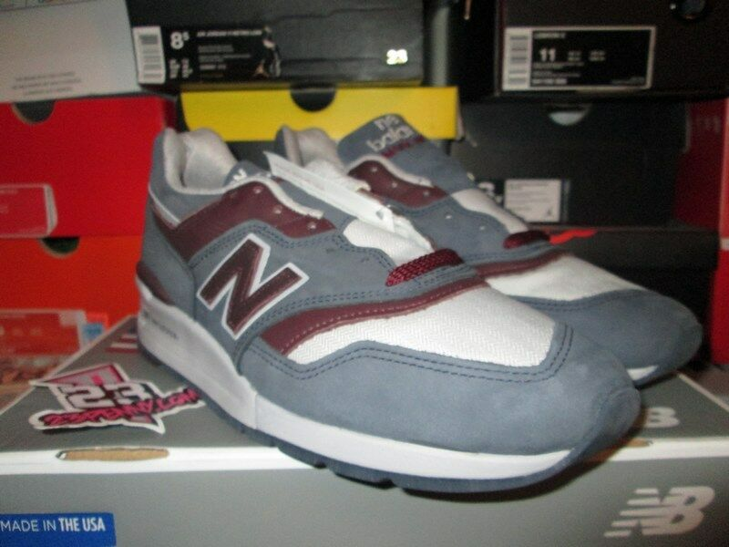 SALE NEW BALANCE 997 M997DGM MADE IN THE USA SIZE 10 13 GREY STEEL BURGUNDY