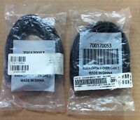 Lot Of 2 Avaya 700170053 Cat5e X-over Cable Brand 10ft Black