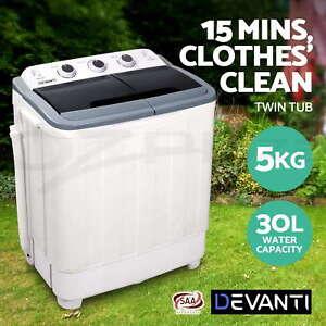 Devanti-5kg-Mini-Portable-Washing-Machine-Twin-Tub-Spin-Camping-Caravan-Outdoor