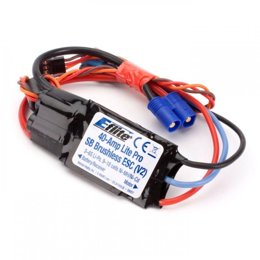 E-Flite 40-Amp Lite Pro Interruptor modo BEC sin Escobillas AEDA 1040LB