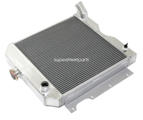 "3Row Performance RADIATOR+16/"" Fan for 56-64 Jeep Utility Wagon//6-226 3.7L L-head"