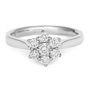 18Carat-White-Gold-Half-Carat-Diamond-Seven-Stone-Daisy-Cluster-Ring-0-50cts