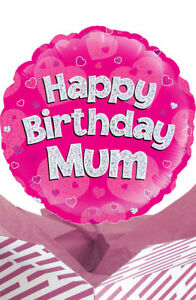 Image Is Loading Happy Birthday Mum Balloon In A Box Gift