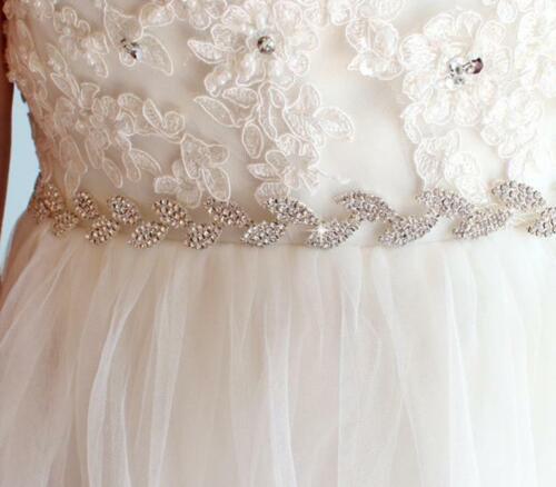 Vestido de boda Luxe Estrás Cadena De Oro Rosa Diamante Adorno Apliques de Novia Cinturón