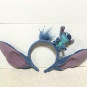 DISNEY HEADBAND TOKYO DISNEYRESORT LILO /& STITCH BLUE EARS STUFFED HAT JAPAN F//S