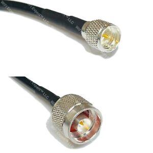 LMR195 Silver Mini UHF Male to SMA MALE Coax RF Cable USA Lot
