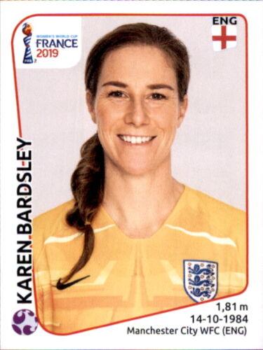Panini Frauen WM 2019 Sticker 254 Karen Bardsley England