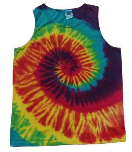 Tie Dye Sleeveless T-Shirts Multi-Color Adult S to XXXL 100/% Cotton Colortone