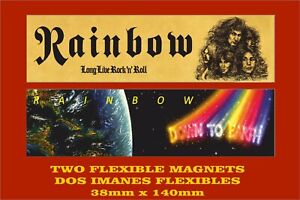 Rainbow-Long-Live-Rock-039-n-039-Roll-Down-to-Earth-2-IMANES-2-MAGNETS
