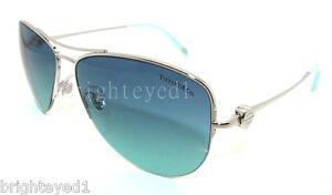 bd137edbfe Image is loading Authentic-TIFFANY-amp-CO-Silver-Aviator-Sunglasses-TF-