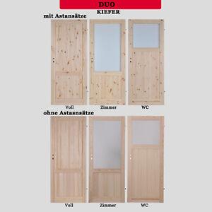 Holztür mit zarge  Tür KornikDU Zimmertür Holztür Türflügel KIEFER verschiebbare ...