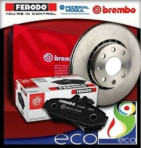 DISCHI-FRENO-BREMBO-PASTIGLIE-FERODO-CITROEN-C4-1-4-65-kW-da-11-04-ANT-senza-ESP