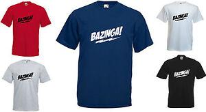 Mens Womens BIG BANG THEORY Inspired BAZINGA T-shirt  Up to 5XL  FREE UK POST