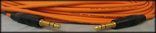 "Orange 25FT UpScale Mogami Neglex Quad W2534 Balanced 1//4"" TRS Audio Cable"