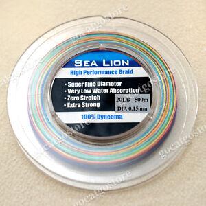 NEW-Sea-Lion-100-Dyneema-Spectra-Braid-Fishing-Line-500M-20LB-Multi-Color