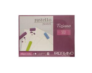Fabriano-TIZIANO-Pastellpapier-23-x-30-5-cm-weisser-Pastellblock-24-Blatt