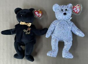 """Ty Beanie Babies """"The End"""" and """"The Beginning"""" NWT 1999 AND 2000"""
