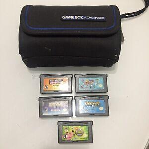 Lot of 5 Nintendo GameBoy Advance GBA Pac-Man SpongeBob Tony Hawk Island Case