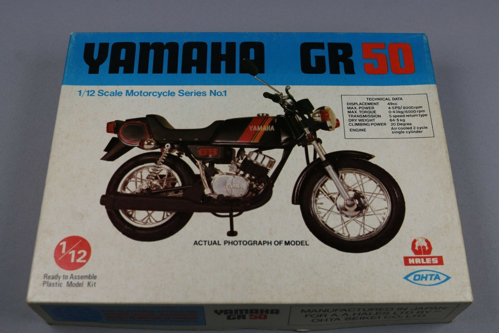 Zf1031 Hales Ohta 112 modellolino Moto M12011 Yamaha Gr50 2 Strokes Serie No. 1