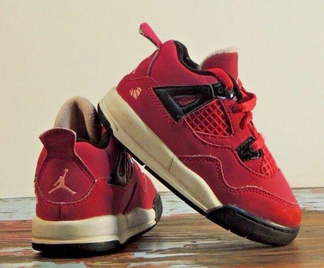 Nike Air Jordan Retro Shoes Sneakers Basketball 7C PS Pink 4 IV Kids TD  Fuchsia 0042c3bb6