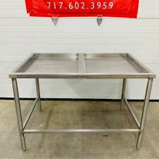 Stainless Steel With Two 27 Removable Top Sections Bakery Butcher Table 48