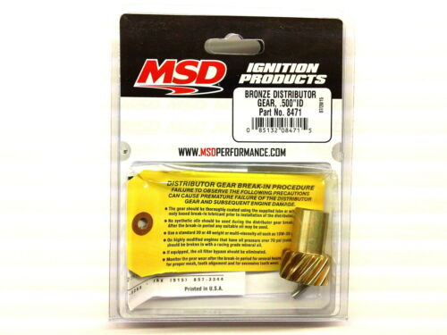 "MSD 8471 Bronze Distributor gear for Small Block//Big Block Chevy .500/"" ID"