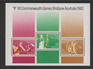 Australien - 1982, Commonwealth Spiele, Brisbane Blatt - MNH - Sg MS863