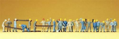 Preiser 14403 Trabajador de Construcción Vías con Accesorio 24 Caracteres Ho