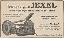 Y7285 Tondeuse à gazon JEXEL - Pubblicità d'epoca - 1928 Old advertising