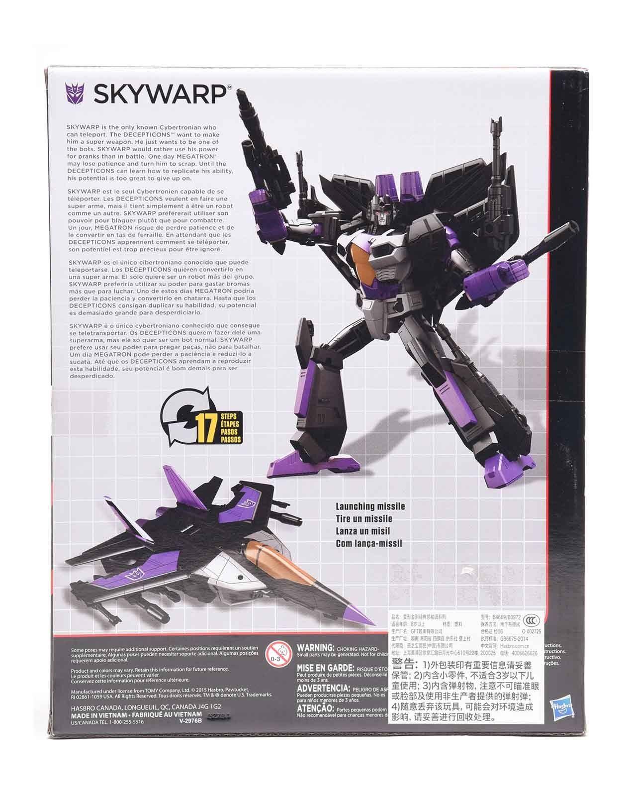 Transformers SKYWARP Action Figure Combiner Wars IDW Leader Classe L L L 9c6fca