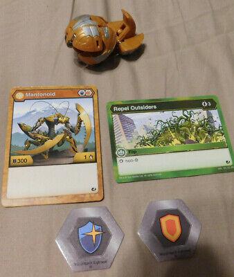 BAKUGAN Battle Brawlers Battle Planet  B300 MANTONOID ULTRA /& CARD 2 Bakucores