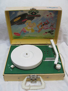 Original-1983-Vintage-Cabbage-Patch-Kids-Phonograph-Record-Player-Play-33-039-s-amp-45