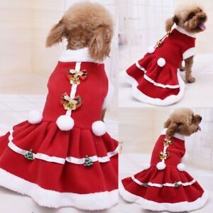 Pet-Dog-Bowknot-Christmas-Costume-Puppy-Tutu-Skirt-Dress-Clothes-Outfits-Apparel