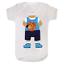 Cabeza de baloncesto bebé Babysuit Babygrow bebé crezca Bebé Regalo Gracioso Chaleco Recién Nacido