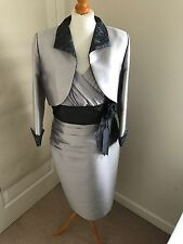 Carina Silver and Navy mother of the bride outfit UK18 (worn once) rrp£799