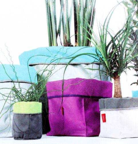 FARBE WÄHLBAR++ Blumentopf friedola Flowerbag textiles Pflanzgefäß + GRÖßE u