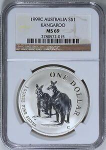 Australia-1999-Silver-Kangaroo-NGC-MS-69-Australian-Coin-MS69