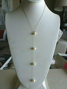 BEAUTIFUL-MODERN-ELEGANT-14-K-YG-PEARL-NECKLACE