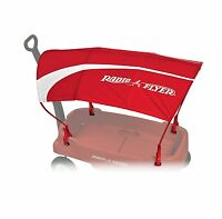 Radio Flyer WAGON CANOPY, Kids Ride On Toy UV Protective Tent Pole CANOPY, Red