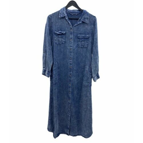 SOFT SURROUNDINGS Petite Tencel Maxi Dress Size Me