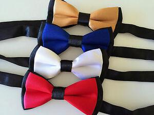 1PC-Kid-baby-Party-School-Pre-tied-Wedding-Boy-Satin-bow-tie-Necktie-bowtie-PROP
