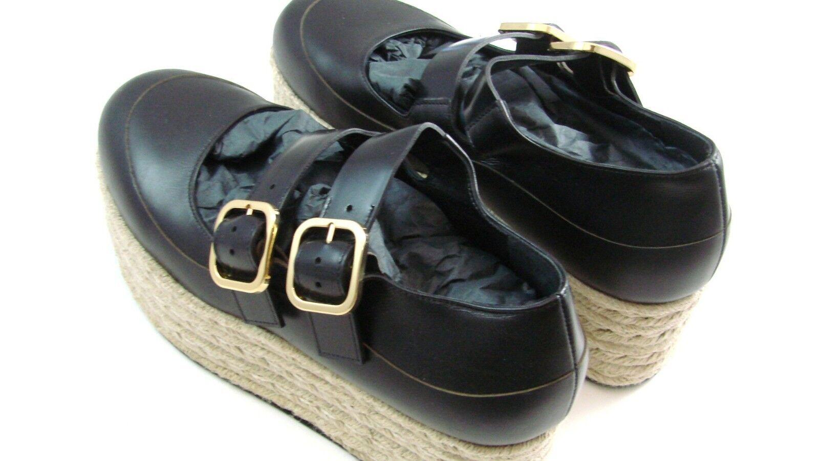 MARNI Chaussures femmes double boucle en cuir Mary Jane Espadrilles Espadrilles Espadrilles Euro 37  1120 ea0e4f