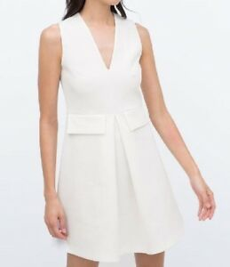 Details about ZARA WOMEN WHITE CUTE FITTED DRESS New WITH Tag Size M 8  JACKIE KENNEDY STYLE