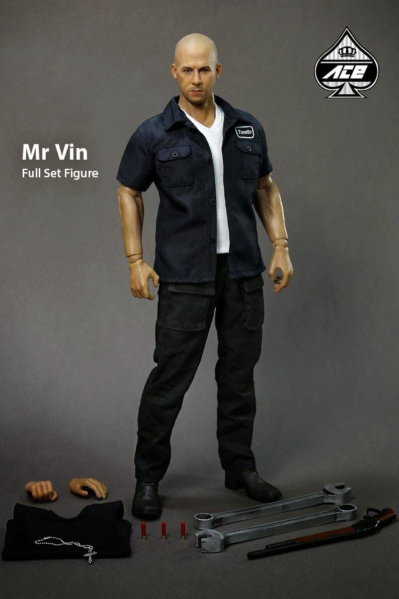 ACE TOYZ ATH-004 DOMINIC TORETTO FAST & FURIOUS MR VIN DIESEL 1/6 ACTION FIGURE